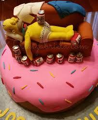 homero simpson ebrio tortas pasteles cake 3d