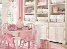 shabby chic kids room design with chandelier also patterned rug