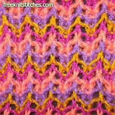 zig zag knitting stitch pattern multi color knitting patterns zigzag