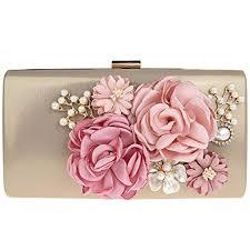 sac mariage kaxidy fleurs élégantes sac embrayage pochette mariage pochette de