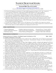 Software Testing Resume Samples For Experienced by Sample Dba Resume Resume Cv Cover Letter Dba Manager Sample