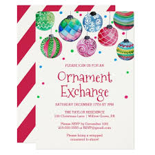 ornament exchange card zazzle