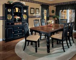 grey braided rug for classic dining room ideas with elegant black