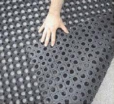 porous anti slip rubber boat deck mat rubber grass mat on made in