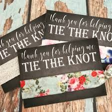thank you favors bridesmaids gift hair ties thank you wedding favors