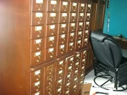 Library Catalog Cabinet Library Card Catalog Cabinet Craigslist Antique 60 Drawer Library
