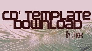 free cd u0027 template download youtube