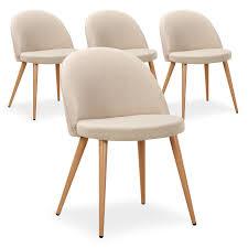 une chaise lot de 4 chaises scandinaves coloris beige la chaise maury est une