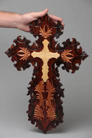 Decorative Wooden Crosses For Wall Madeheart U003e Large Beautiful Handmade Designer Carved Wooden Wall