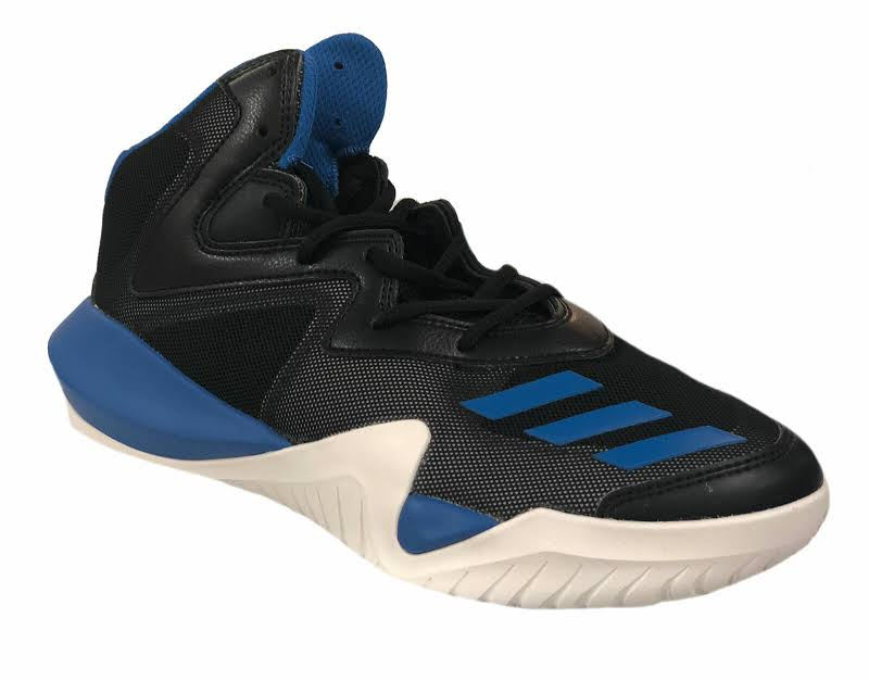 Adidas Crazy Team Core Black / Blue Light Solid Grey High-Top Basketball 7M