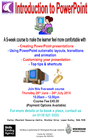 introduction to powerpoint courses earley crescent