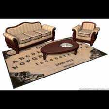 Ouija Coffee Table by Ouija Board Rug And Planchette Coffee Table On The Hunt