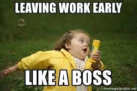 Leaving Work Meme - leaving work early like a boss little girl running away meme