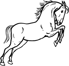 printable horse outline free download clip art free clip art