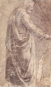 file michelangelo drawing from the tribute money by masaccio