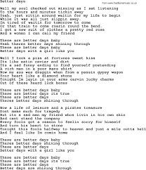 bruce springsteen song better days lyrics