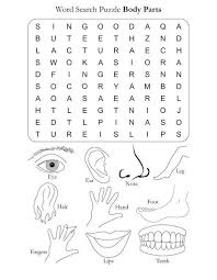 printable word search worksheets word search puzzle body parts download free word search puzzle