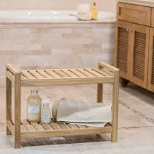 Teak Shower Mat Amazon Com Belham Living Teak Shower Bench Home U0026 Kitchen