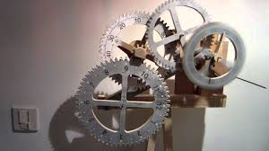 time is flying by wooden scroll saw gear clock project spin
