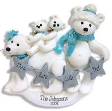 polar family family 4 handmade polymer clay personalized