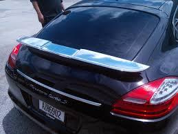 porsche panamera trunk porsche panamera miami chrome vinyl wrapped rear spoiler u0026 front