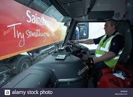 an hgv driver is ready to leave sainsbury u0027s 700 000 sq ft 57 500