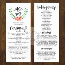 traditional wedding program wording hadley designs programs