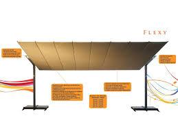 sonnenschirm rechteckig mit kurbel rectangular aluminium garden umbrella flexy silver by fim