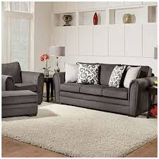 big lots home decor simmons flannel charcoal sofa with pillows at big lots love the big