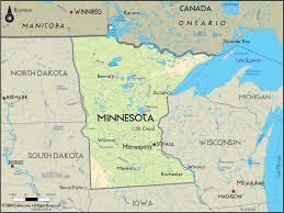 minnesota on map geographical map of minnesota and minnesota geographical maps