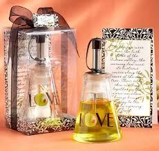 olive wedding favors glass bottle olive wedding favors