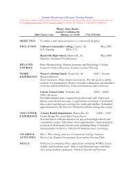 Resume Of College Student Resume For Nursing Student Berathen Com
