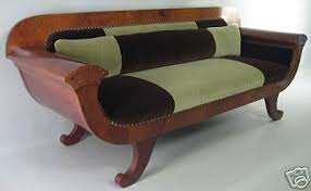 Mohair Upholstery Look A Color Blocked Biedermeier Sofa Apartment Therapy