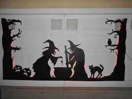 halloween monster window silhouettes halloween garage door silhouette 6 steps with pictures