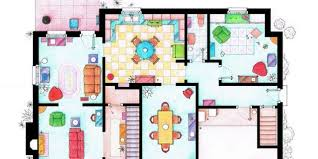 Floorplans Of Homes Tv Floorplans How The Apartments In Your Favourite Shows Are