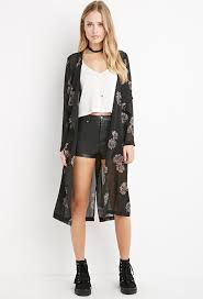forever 21 sheer floral longline kimono where to buy u0026 how to wear
