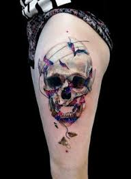 abstract skull tattoo by timur lysenko tattoo no 12676 best