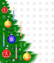 christmas background with decorated tree vector clipart image