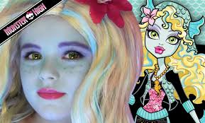 Monster High Halloween Costumes Girls Lagoona Blue Monster High Doll Costume Makeup Tutorial For