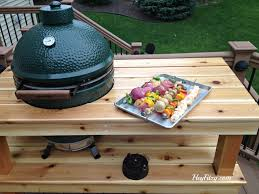 Green Egg Table by The Big Green Egg Diy Table Hey Fitzy