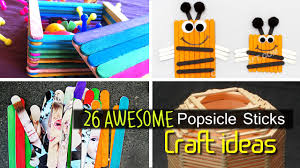 awesome popsicle stick craft ideas youtube