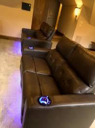 microfiber home theater seating mccabe u0027s theater and living frisco u0027s 1 home theater seating