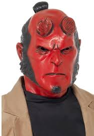 latex halloween mask kits hellboy latex mask escapade uk