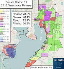 Map Of Tampa Bay Florida Senate District 19 Primary Battle Of The Bay U2013 Mci Maps