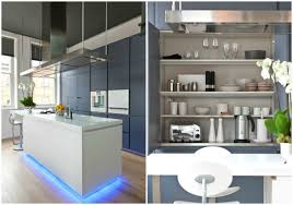the poliform kitchen has white corian surfaces a floating island