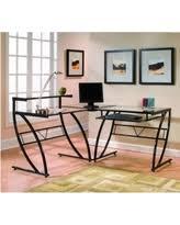 Glass L Shaped Computer Desk by Computer Desk L Shape Desks Bhg Com Shop