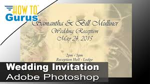 how to design invitation card in photoshop how to design wedding invitation cards in adobe photoshop cc 2018