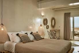 chambre en osier ethnique marron blanc noir osier rotin bois textile