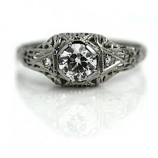 art deco engagement ring antique engagement ring old 60 ct
