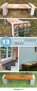 Backyard Bench Ideas 13 Awesome Outdoor Bench Projects Project Ideas Bench And Tutorials